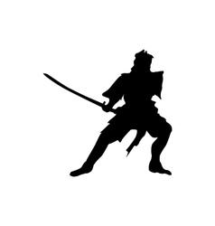 Samurai silhouette black vector