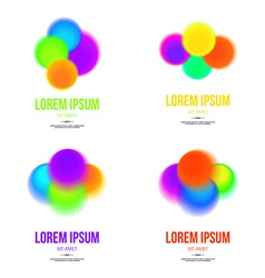 set abstract colorful logo design template vector image