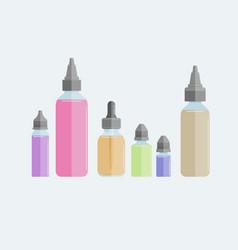 Set of vape e-liquids vector