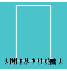 Silhouette people with copy space vector image
