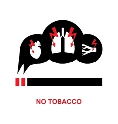 smoke danger icon vector image