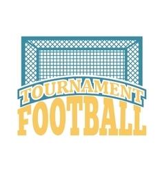 Soccer sign logo badge vector image vector image