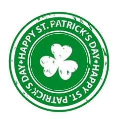 St patricks day rubber stamp vector