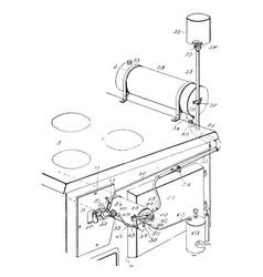 Steam generator vintage vector