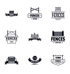 stockade logo set simple style vector image