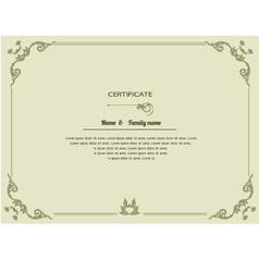 Thai elegant art frame certificate design templat vector