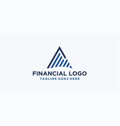 triangle financial logo design vector image