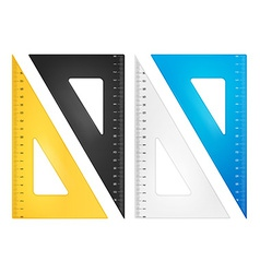Triangle ruler set vector image