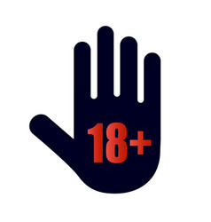 Under 18 years old prohibitory sign for adults vector
