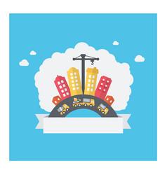 urban city building design of modern cityscape vector image