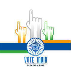 Voting and polling indian election campain poster vector