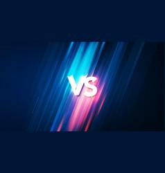 vs background for fight battle or sport vector image