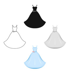 wedding dress icon for web vector image