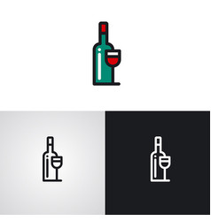 winery logo vector image