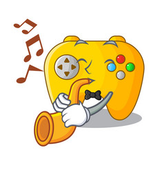 With trumpet video game controller shaped on vector