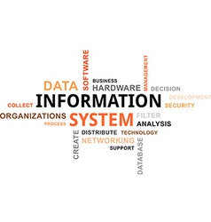 Word cloud information system vector