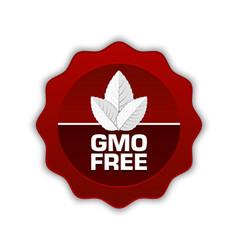 GMO Free icon vector image vector image