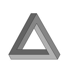 penrose triangle geometric optical vector image
