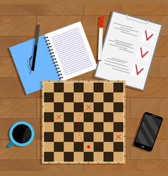 planning and strategy business vector image vector image