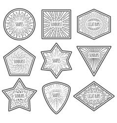 vintage style logos with sunburst nine vector image