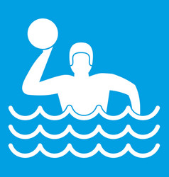 water polo icon white vector image