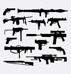 Gun weapon silhouette vector image