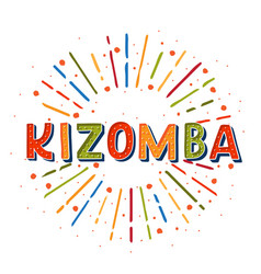 Kizomba logotype coloflul sunshine elements vector