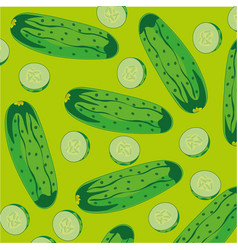 background from cucumber vector image