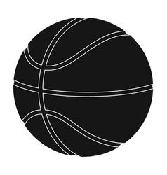 basketballbasketball single icon in black style vector image