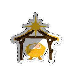 christmas manger concept vector image