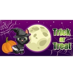 Halloween card trick or treat vector image vector image