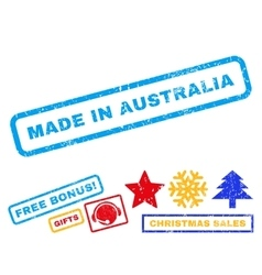 Made In Australia Rubber Stamp vector image
