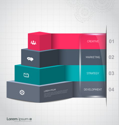 pyramid for infographic or web design vector image
