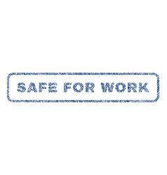 safe for work textile stamp vector image vector image