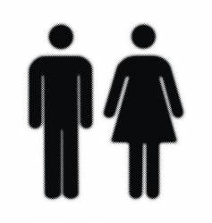 woman and man halftones silhouettes vector image vector image