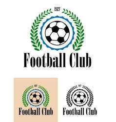 Football Club tetro emblem vector image
