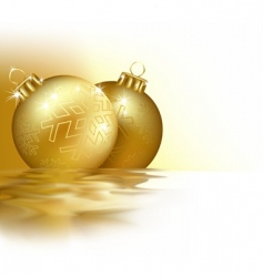 golden christmas vector image
