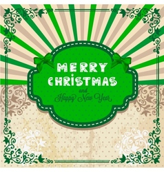 happy christmas card vector image vector image