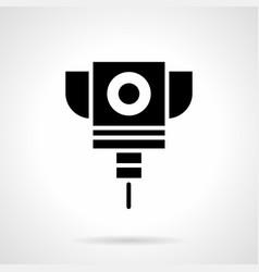 laser cut machine glyph style icon vector image
