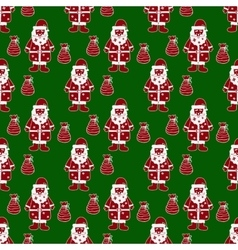 Santa claus seamless pattern vector image vector image
