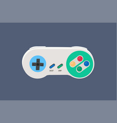 90s vintage video game controller vector