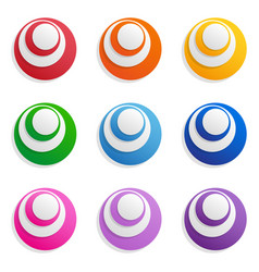 Abstract high-tech circles isolated objects vector