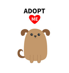 adopt me dont buy dog face pet adoption puppy vector image