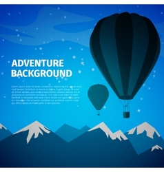 Adventure background vector image