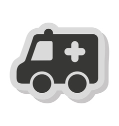 Ambulance car vehicle isolated icon vector