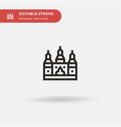 Angkor wat simple icon symbol vector