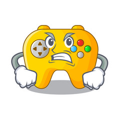 Angry video game controller shaped on charcter vector