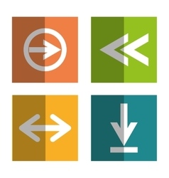 Arrows digital design vector image