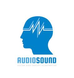 Audio sound - logo template concept vector