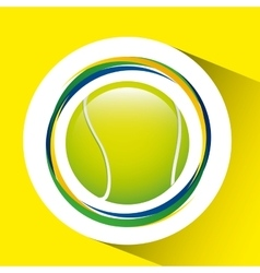ball tennis olympic games brazilian flag colors vector image